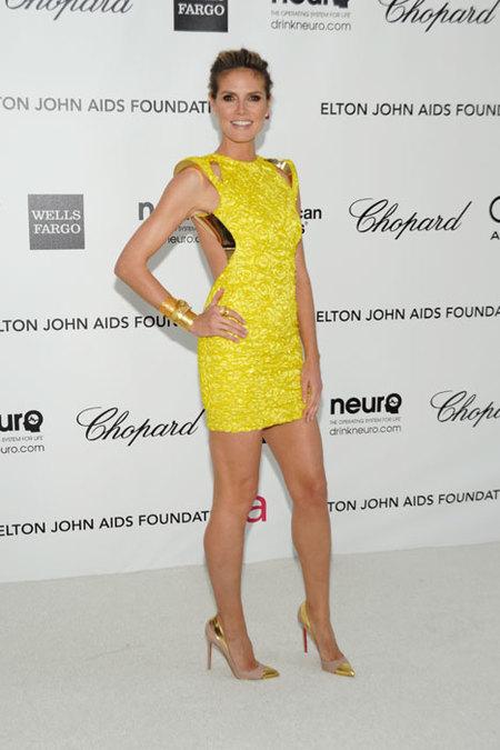 Heidi Klum fiesta Elton John Oscars 2012