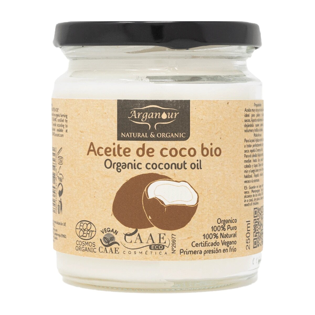 Aceite De Coco Ecológico Arganour