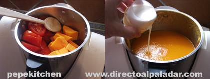 pasta salsa calabaza tomate paso