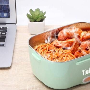 Comer en cualquier parte es posible con la fiambrera más vendida en Amazon (que nos calienta el almuerzo y además está rebajada)