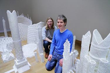Ciudades hechas con cubos de azúcar