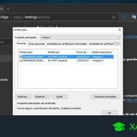 Cómo importar y exportar un certificado digital en Microsoft Edge