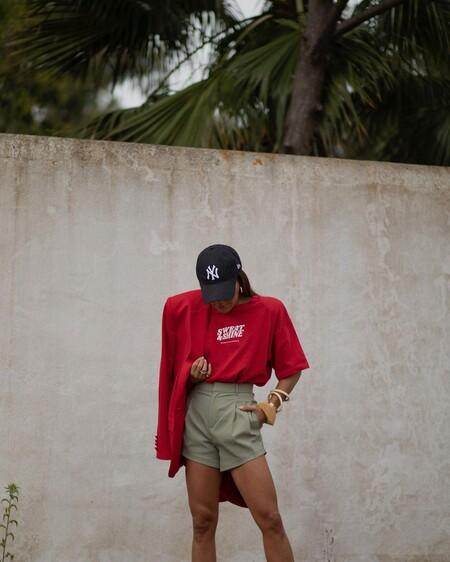 Combinar Shorts Verano 2021 Street Style 03