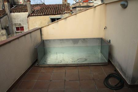 piscina desmontable en azotea