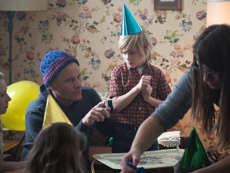 Viggo Mortensen dando instrucciones en el rodaje