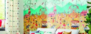 La colección de papeles pintados más bonita y divertida para habitaciones infantiles es de Harlequin. Y se llama Book of Little Treasures