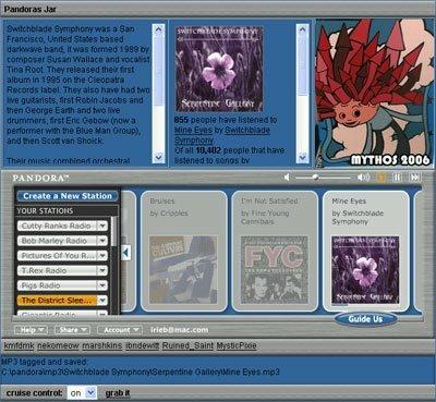 Pandora: descarga canciones, añade tags y carátulas al vuelo...
