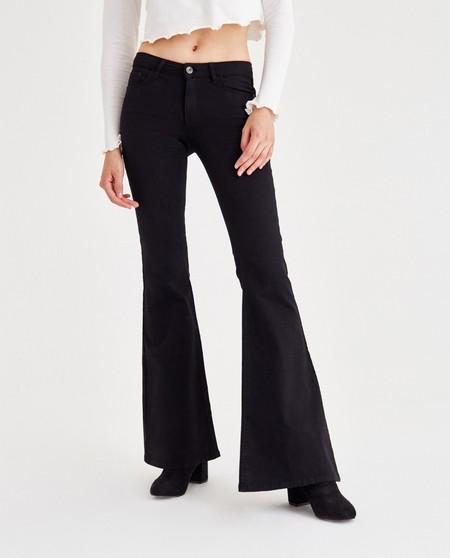 pantalon campana negro rebajas