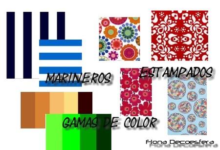 Colores y estampados