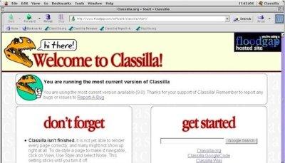 Classilla, un navegador moderno en Mac OS 9