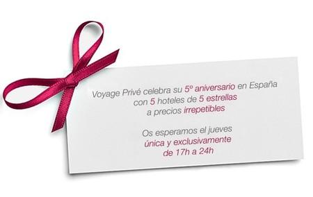 Voyage Privé celebra su quinto aniversario con ofertas especiales, ¡solo hoy!
