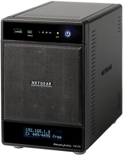 Netgear ReadyNAS NVX ofrecen cuatro ranuras para discos
