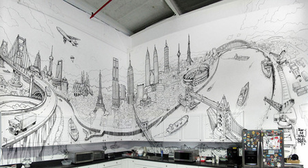 Global City, un gran mural con la ciudad de ciudades