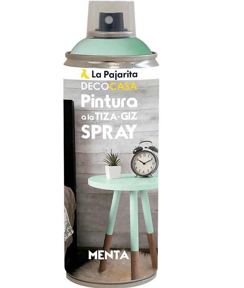 Spray de pintura a la tiza en verde menta