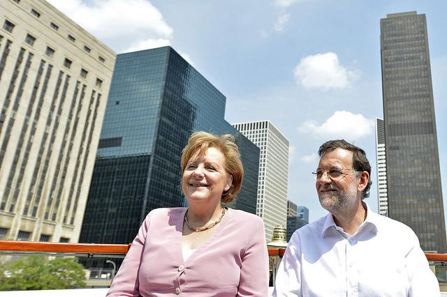 Rajoy con Merkel