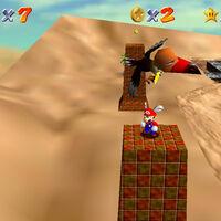 Super Mario 64: cómo conseguir la estrella In the Talons of the Big Bird de Shifting Sand Land