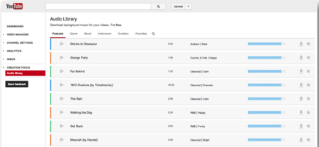 YouTube lanza Audio Library, música de fondo gratuita para incorporar a nuestros vídeos