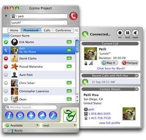 Gizmoproject, tambien para mac-intel