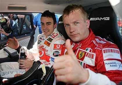 Kimi y Alonso, líderes en ingresos a nivel mundial