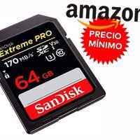 Nuevo precio mínimo en Amazon para los 64 GB SDXC de la SanDisk Extreme PRO: ahora por sólo 16,49 euros