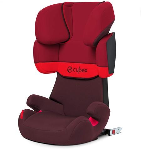 Oferta de Amazon en la silla de coche con Isofix Cybex Solution X-Fix ajustable en 11 posiciones: en color rojo cuesta sólo 119,99 euros