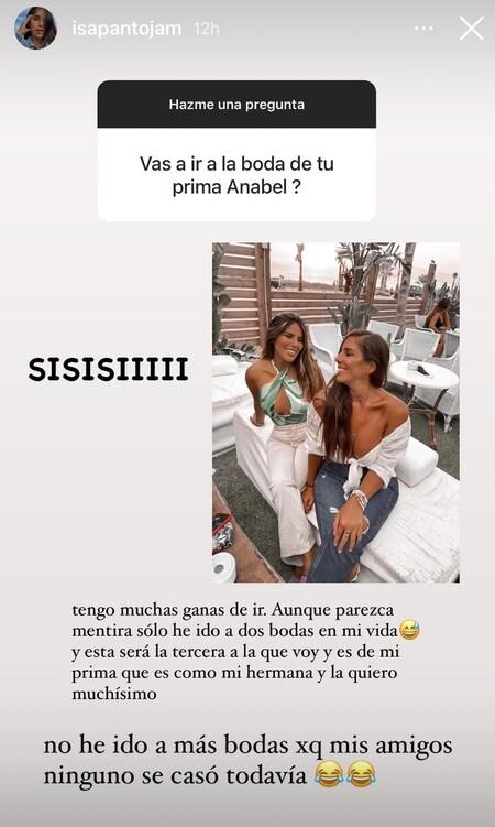 Isa Pantoja acudirá a la boda de su prima Anabel