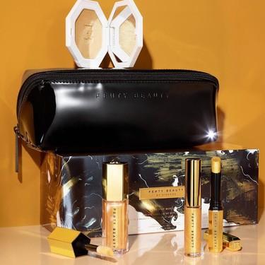 La navidad más dorada la conseguimos con la colección de Fenty Beauty. Rihanna sí que sabe tentarnos