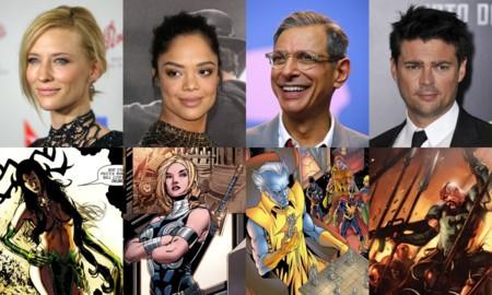 Blanchett, Thompson, Goldblum y Urban con sus personajes de Thor Ragnarok