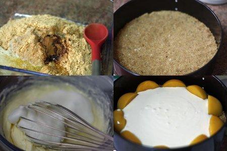 Tarta de mascarpone y melocotón. Pasos