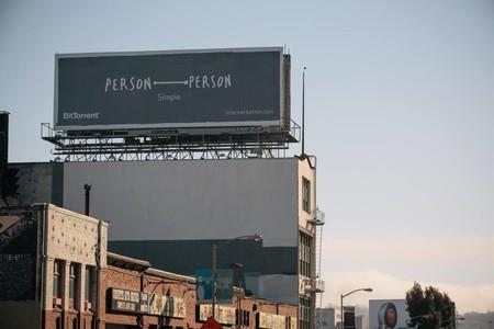 Valla publicitaria de BitTorrent