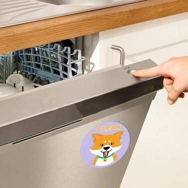 Estos imanes son el fin de las discusiones por el lavavajillas: nos indican cuando los platos están sucios o limpios