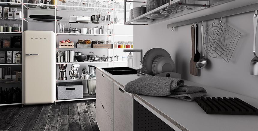 Foto de Meccanica, un sistema de almacenaje muy versátil y minimalista (18/21)