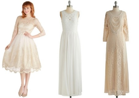 Modcloth vestidos novia baratos