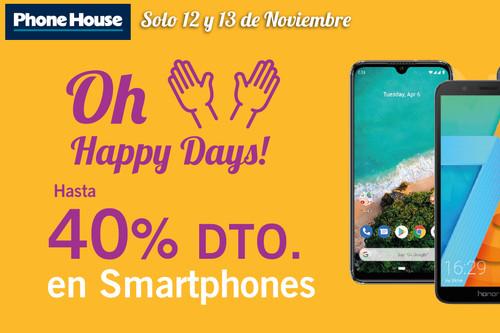 Los iPhone de la Outlet de Phone House están rebajados por los 'Oh Happy Days!'del 12 al 13 de noviembre