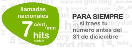 Hits mobile promociona una tarifa de 7 céntimos/minuto para siempre