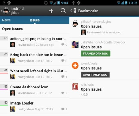 Github hace su llegada a Android