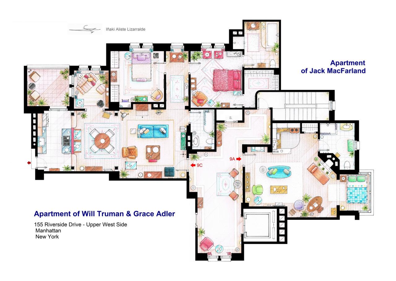 Foto de Planos de apartamentos de series de TV (7/17)
