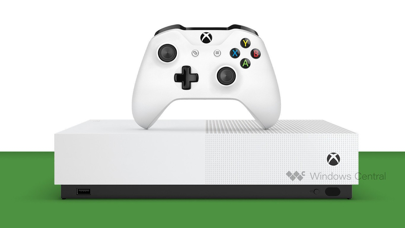 """Así luce la primera Xbox sin lector de discos para juegos digitales, """"Xbox One S All-Digital"""", según Windows Central"""