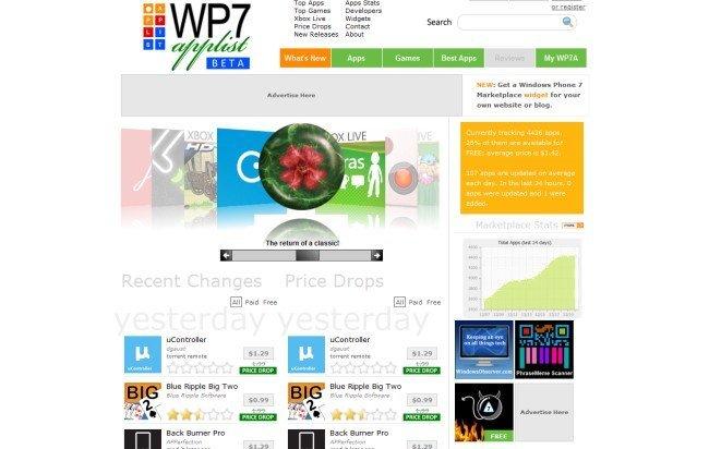 WP7 Applist, un excelente directorio web de aplicaciones para Windows Phone 7