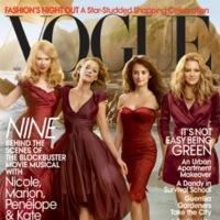 Penélope Cruz portada de Vogue junto con Nicole Kidman, Marion Cotillard y Kate Hudson