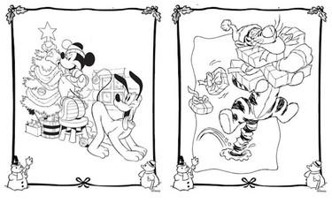 Dibujos Disney para colorear en Navidad