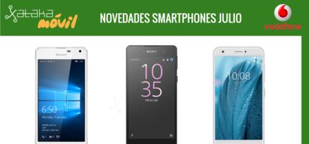 Sony Xperia E5, Microsoft Lumia 650 y ZTE Blade A512, novedades de Vodafone en julio y sus precios
