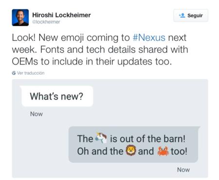 Tendremos nuevos emojis esta semana, comenzando por los Nexus