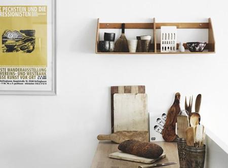 Cocina con detalles en madera