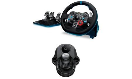 El Logitech Driving Force G29 con palanca de cambios, esta mañana en Mediamarkt, por sólo 269 euros