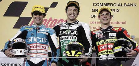 Qatar 2009 podio 125