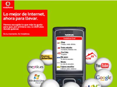 Vodafone te lleva al móvil los servicios de Internet más destacados