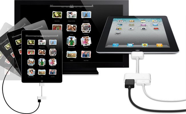 Adaptador AV digital de Apple vídeo en espejo iOS iPad