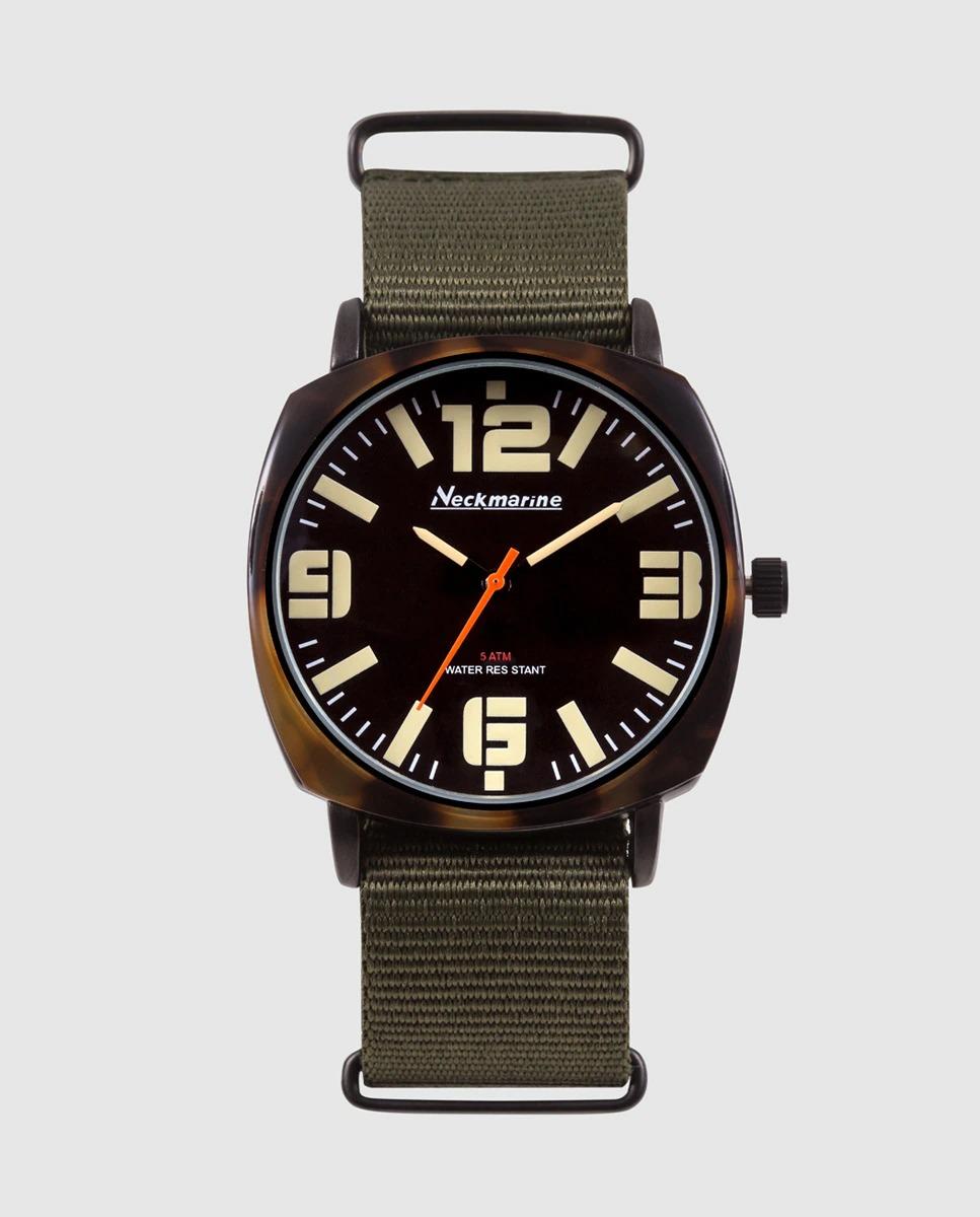 Reloj de hombre Neckmarine Vintage NKM845MP10 de nylon verde
