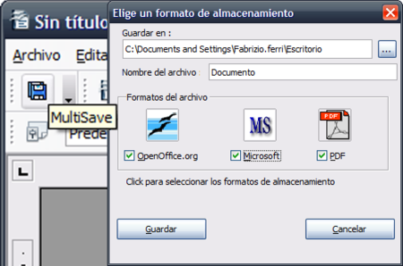 Multisave, guarda a la vez documentos de OpenOffice en varios formatos